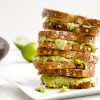 Mashed Chickpea and Avocado Sandwich with Cilantro and Lime
