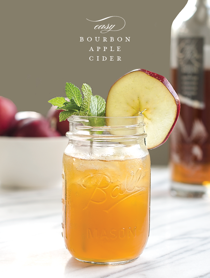 Easy Bourbon Apple Cider Cocktail - Chic & Sugar