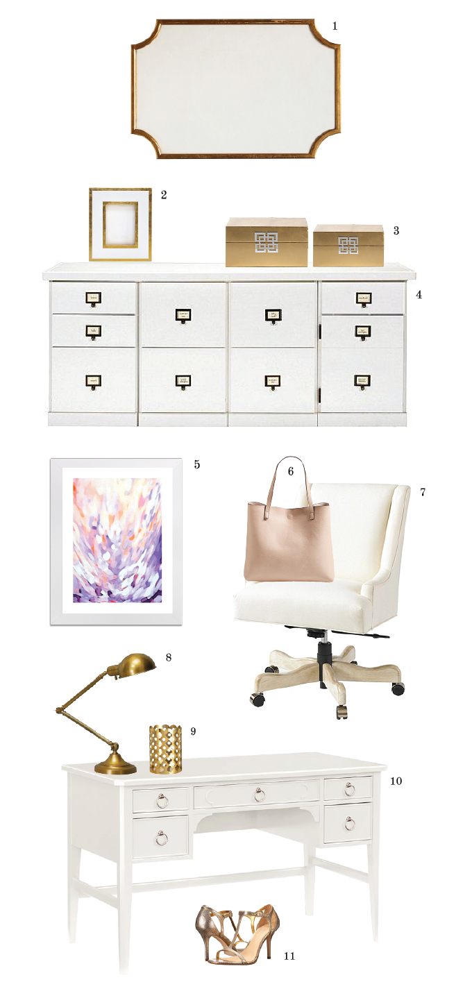 White And Gold Office Inspiration Chic Amp Sugar